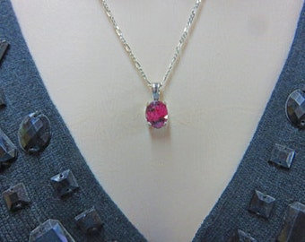 """Rhodonite Necklace - Natural Rhodonite & Silver Necklace - """"Simply Beautiful Gemstone"""" Line"""