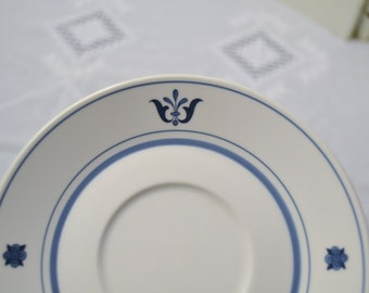 Vintage Noritake Blue Haven Saucer Blue White Decorative Plate Replacement  PanchosPorch