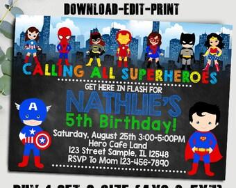 Batman Birthday Invitation Batman Invitation Boy Birthday