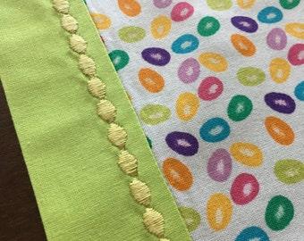Jelly Bean Easter Table Runner - Yellow Detail - *reversible!*