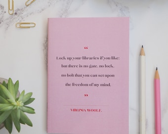 Virginia Woolf Notebook - Women Writers Pocket Notebooks - Gift for readers, writers, book lover - Stationery - Journal - Notepad - Literary