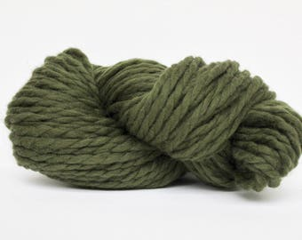 Millennium Super Bulky Yarn,  Merino Yarn, Wool Yarn, Blanket Yarn, XL Yarn, XL Wool, Bulky Yarn, Knitting Yarn, Olive Color