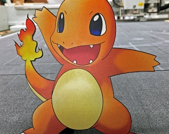 Limited Edition Pokemon GO Charmander Metal Laser Cut and Print