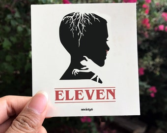 Stranger Things Sticker, Eleven Sticker, Demogorgon,