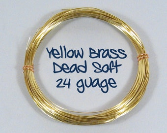 24ga 25ft DS Yellow Brass Wire
