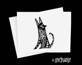 Coyote Note Card Blank Notecard
