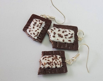 Poptarts Jewelry set - Necklace pendant and Earrings