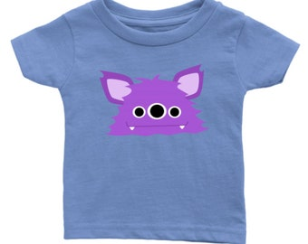 Cute little Purple Monster - Infant t-shirt - For the sweet baby in your life! Birthday, baby shower, new baby