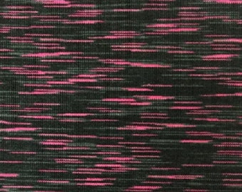 Space dye performace fabric Polyester/Spandex - Pink/Black/Grey 150cm wide  x 25cm