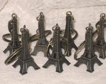 Eiffel Tower Key Chain Embellishment from Paris France Authentic Champs Elysees Metal Eiffel Tower ECS