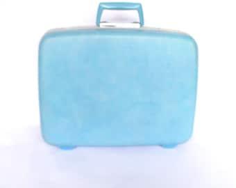 VINTAGE BLUE SAMSONITE / Overnight Luggage