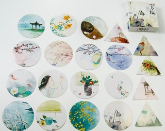 "40 Sticker Set ""Watercolor Garden""/DIY Filofaxing scrapbooking Aufkeber"