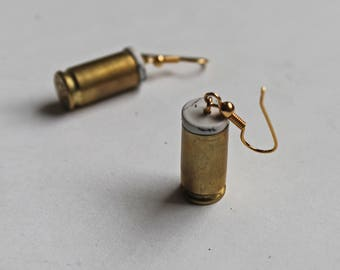 45 caliber bullet shell earrings
