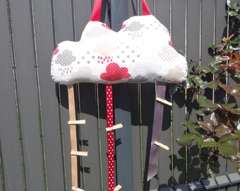 Cushion cloud with hanging Ribbon for photo