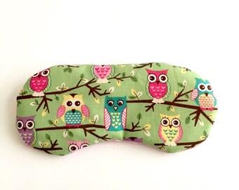 CUTE OWLS Handmade sleep mask with adjustable elastic
