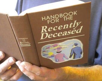 Beetlejuice Handbook for the Recently Deceased Book / movie prop /  Michael Keaton, Alec Baldwin, Halloween, Geek, Horror, Fun, Geena Davis
