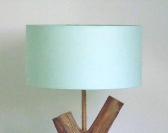 lamp shade green pastel Scandinavian - round - cylindrical - cylinder - handmade - handmade - lampshade-gift idea