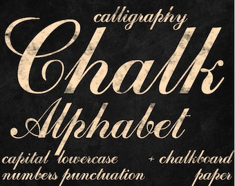 Digital Yellow Chalkboards Alphabet for scrapbooking, chalk clipart, Papercrafts, Wedding Decor, Instant Download, printable lettering (14)