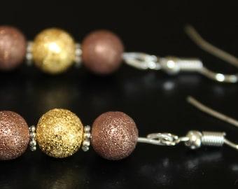 Brass-Plated Earrings