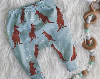 Organic Kanga Leggings, baby leggings, boys leggings, toddler leggings, girls leggings, baby clothes, toddler clothes, organic leggings