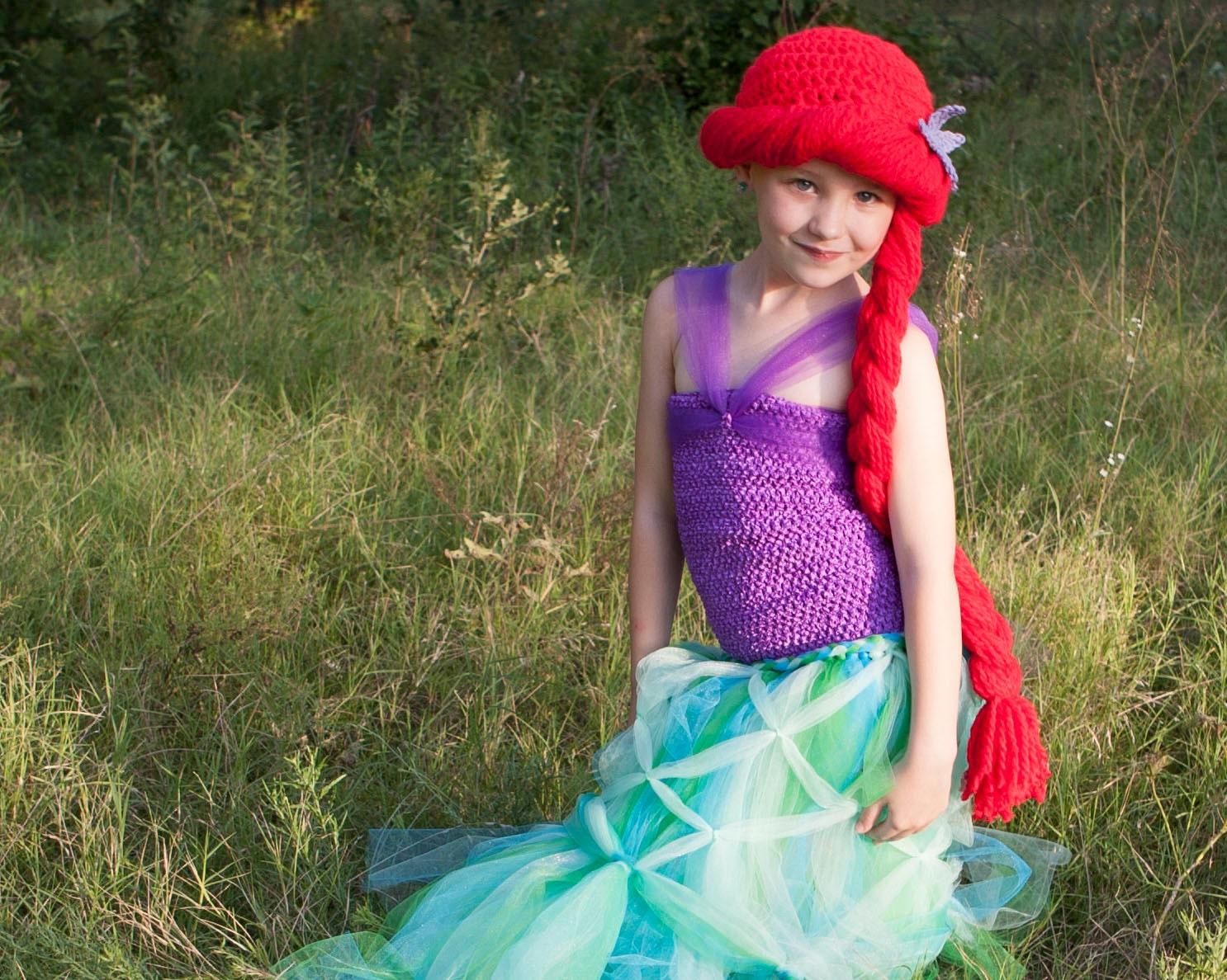 Ariel Hat Little Mermaid Child Baby Ariel Costume Ariel