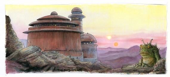 Star Wars- Return of the Jedi - Jabba's Palace  Print