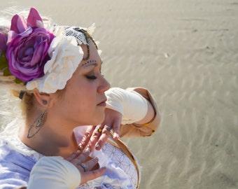 White Rose Head dress