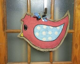 Tweety Bird Burlap Door Hanger