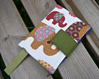 Elephants Journal Cover - Elephant Design A4 or A5 or A6 Notebook Cover -  Elephant Design Handmade 2018 Diary Cover