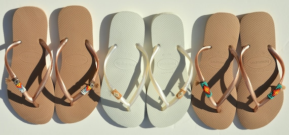 Beach of Flip Havaianas Women's Shoes 3 Flip Flops Shoes Set Hippie Flops Flops Set Beaded Vegan Hippie Sandals Vegan Sandals Flip 6qPxgHq