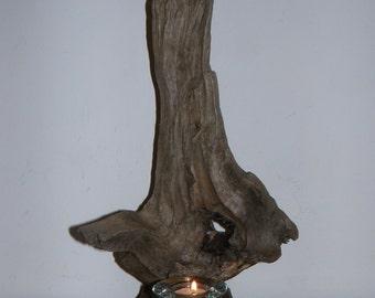 Stunning Driftwood Candle Lit Sculpture