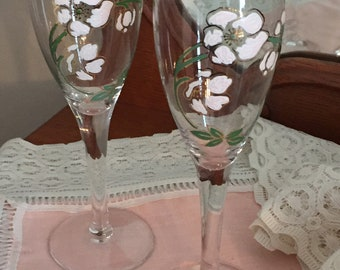 Vintage Perrier Jouet Champagne Flutes, Set of Two, France