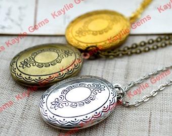 Vintage-Stil ovale Medaillons Halskette