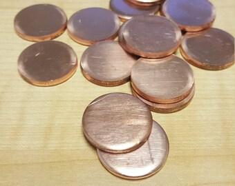 16 Gauge Copper Discs