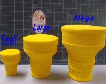 Cone 2-part Plastic Mold, bath bomb mold, soap mold, ice cream cone mold, resin mold, sugar cone mold, dessert mold, chocolate mold, candy
