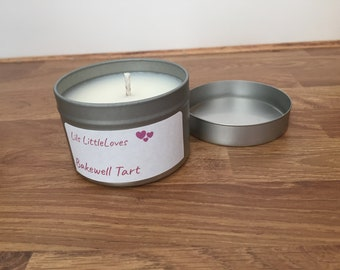 Hand poured Soy wax Bakewell Tart fragrance candle
