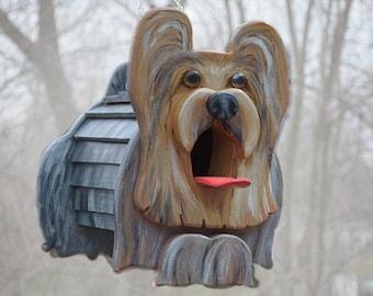 Yorkshire Terrier  Birdhouse or Bird Feeder, Yorkie gift, Dog Lover Gift