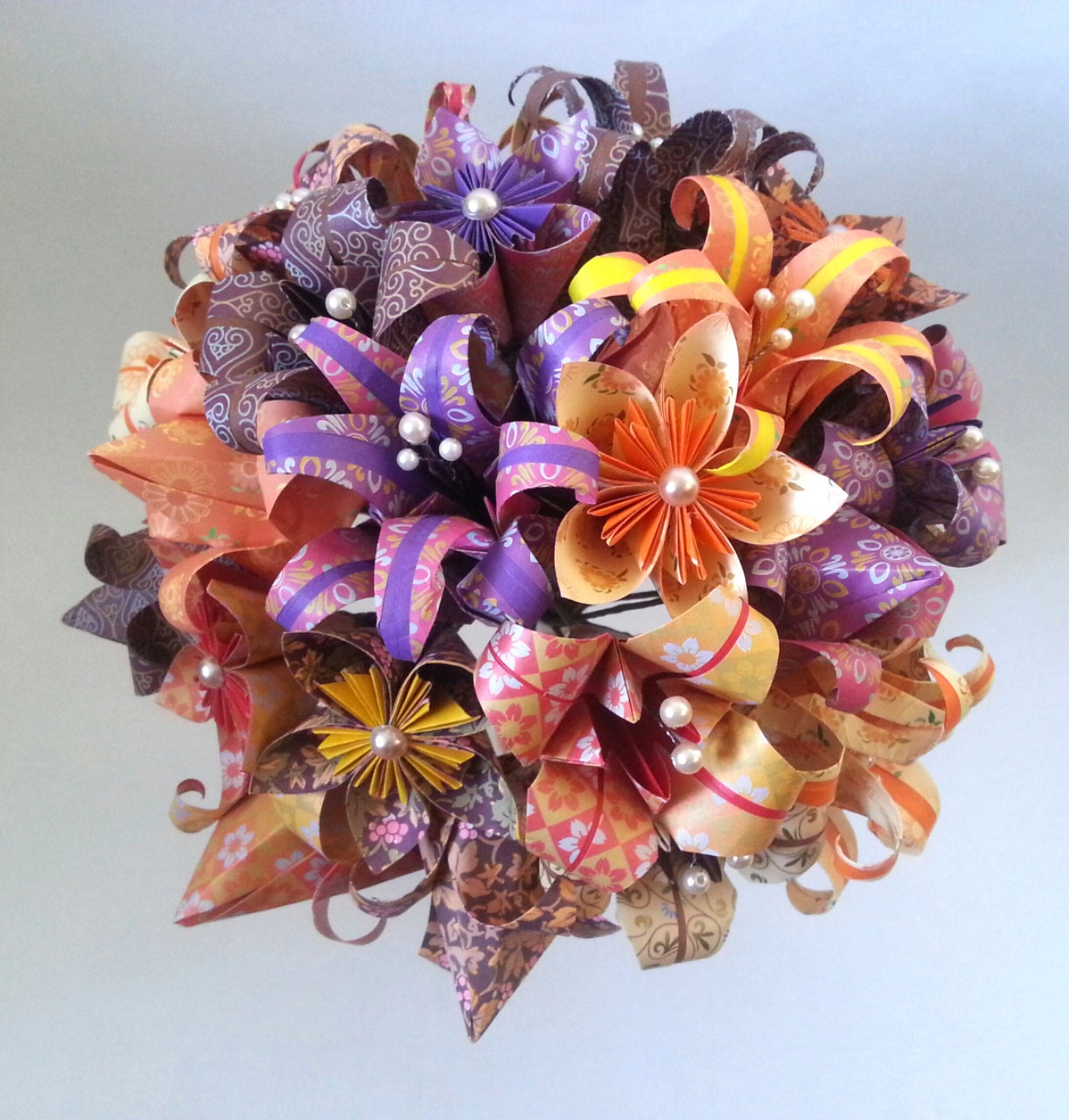 Paper flower origami wedding bouquet alternative bride paper zoom izmirmasajfo