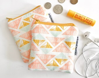 golden triangles mini pouch