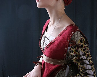 Pre-owned Italian Renaissance Dress, 15th century clothing, Giovanna Tornabuoni costume