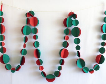 Red and Green Double Garland 3m or 6m