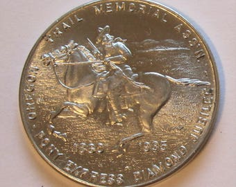 1935 Pony Express Diamond Jubilee Oregon Trail Memorial Medal
