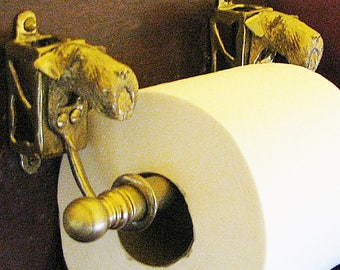Dog Paper Towel Holder Custom Cast Bronze Any Dog Breed Available