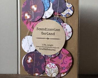 Paper Garland • Winter Garland • Scandinavian Garland • 10ft