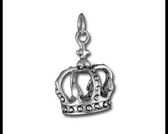 Sterling Silver Crown Charm