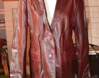 Leather Blazer Women's Philip Noel Blazer Leather Jacket