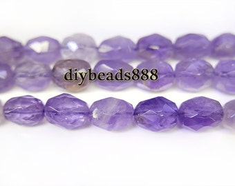 Ametrine,15 inch full strand natural Ametrine faceted nugget beads,crystal quartz,centre drilled beads 12x15mm