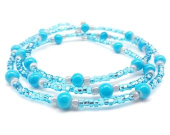 Blue Tone Beaded Glasses Holder , Eyeglass Lanyard , Eyeglass Leash