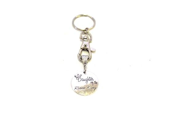 Daughter of the Risen King Keychain, Prayer Keychain, Christian Gift, Inspirational Gift, Motivational Gift, Girlfriend Gift