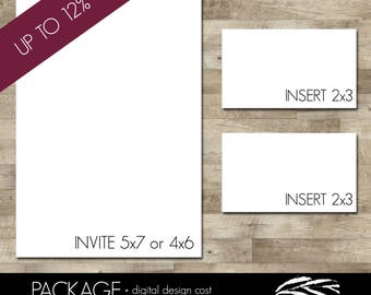 Professionally printed invitations and two sets of inserts (Discounted - UP to 12% OFF!!)